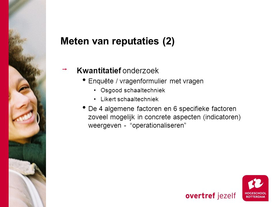 Meten van reputaties (2)