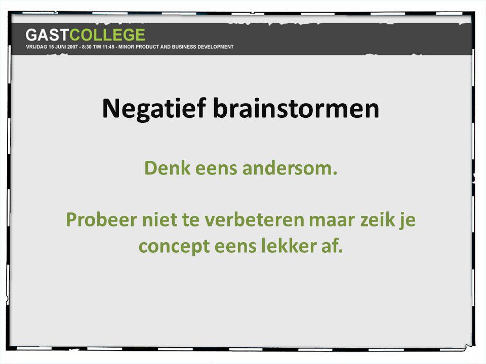 Negatief brainstormen