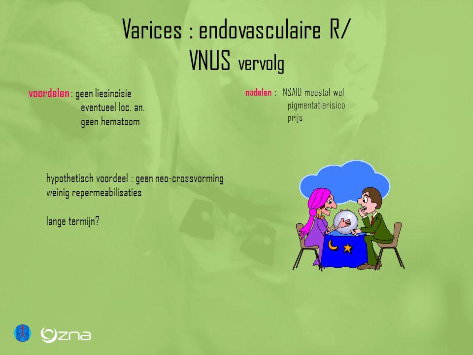 Varices : endovasculaire R/ VNUS vervolg