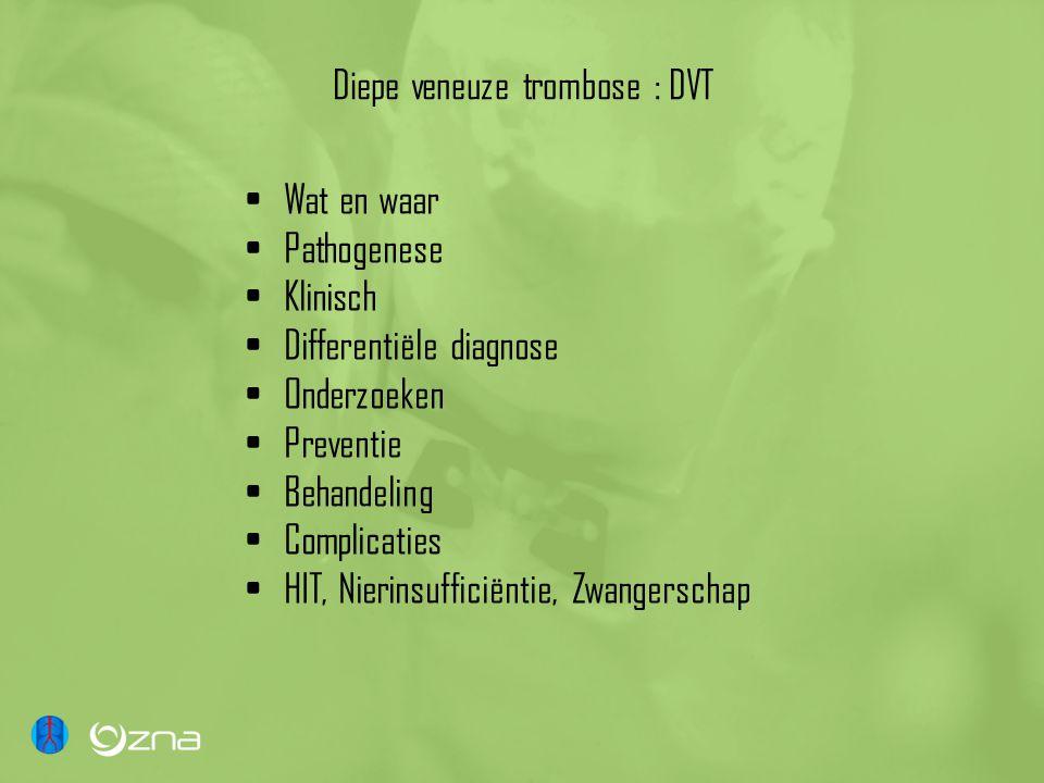 Diepe veneuze trombose : DVT
