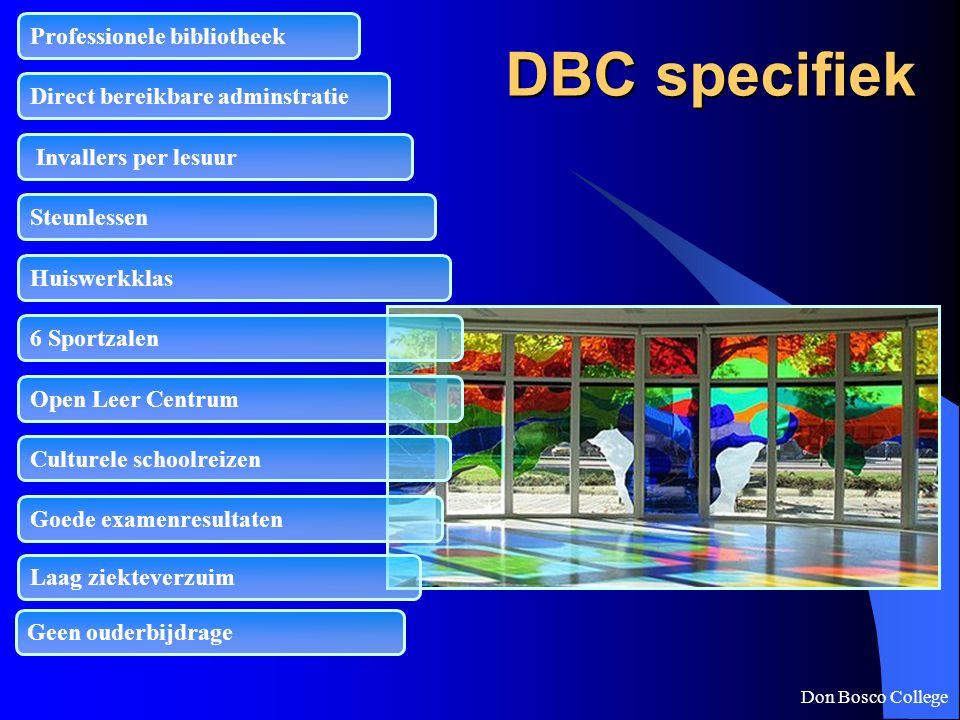 DBC specifiek Professionele bibliotheek Direct bereikbare adminstratie