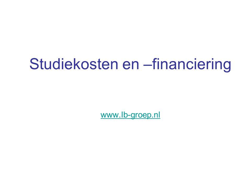 Studiekosten en –financiering www.Ib-groep.nl
