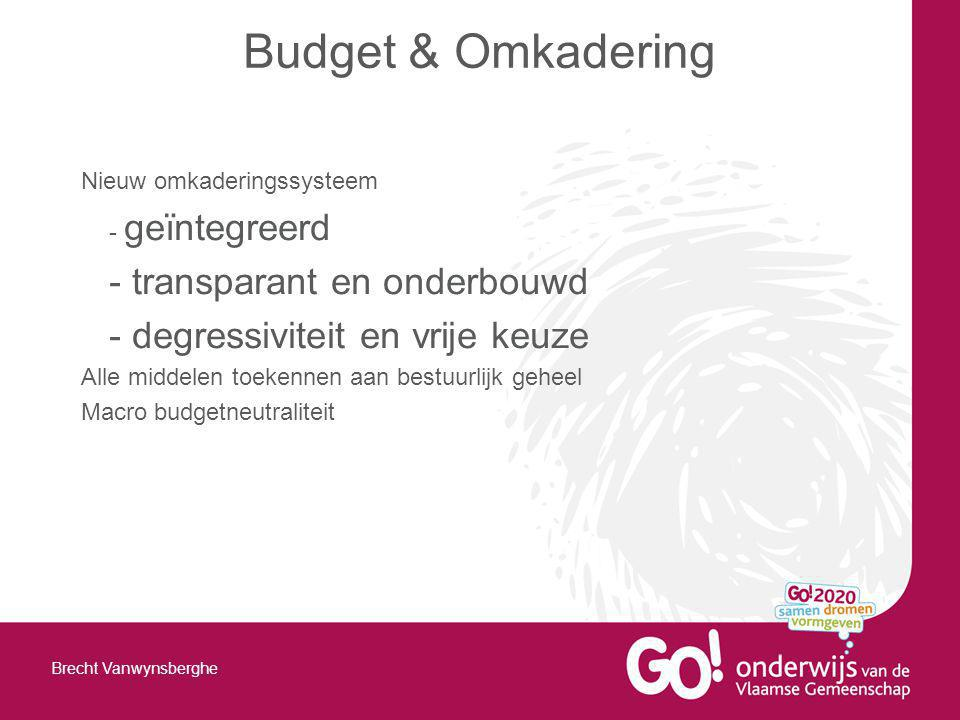 Budget & Omkadering - transparant en onderbouwd