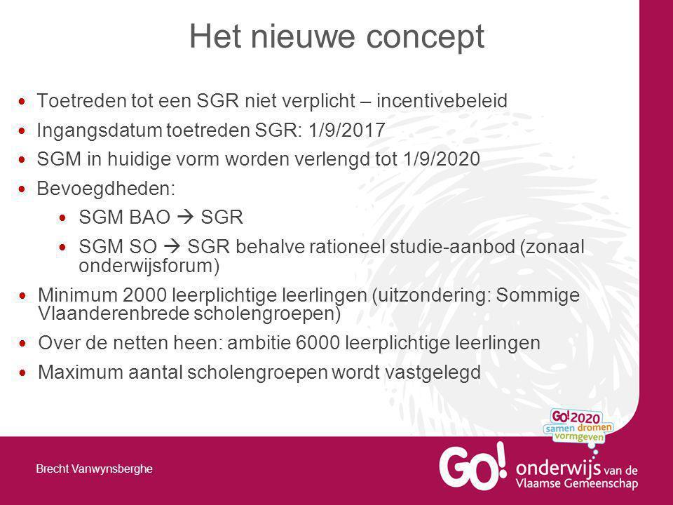 Het nieuwe concept Toetreden tot een SGR niet verplicht – incentivebeleid. Ingangsdatum toetreden SGR: 1/9/2017.