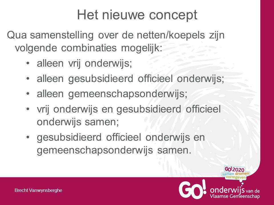 Het nieuwe concept Qua samenstelling over de netten/koepels zijn volgende combinaties mogelijk: alleen vrij onderwijs;