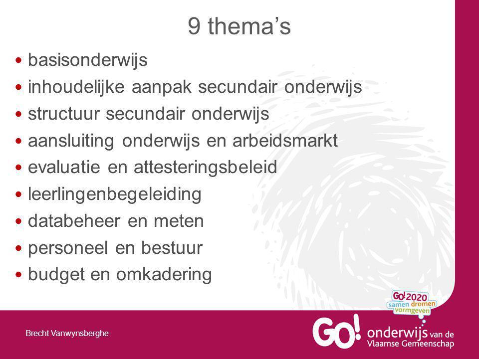 9 thema's basisonderwijs inhoudelijke aanpak secundair onderwijs