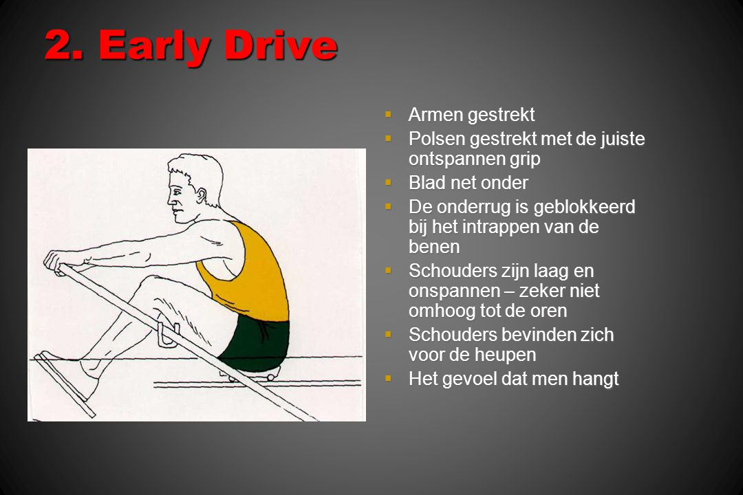 2. Early Drive Armen gestrekt