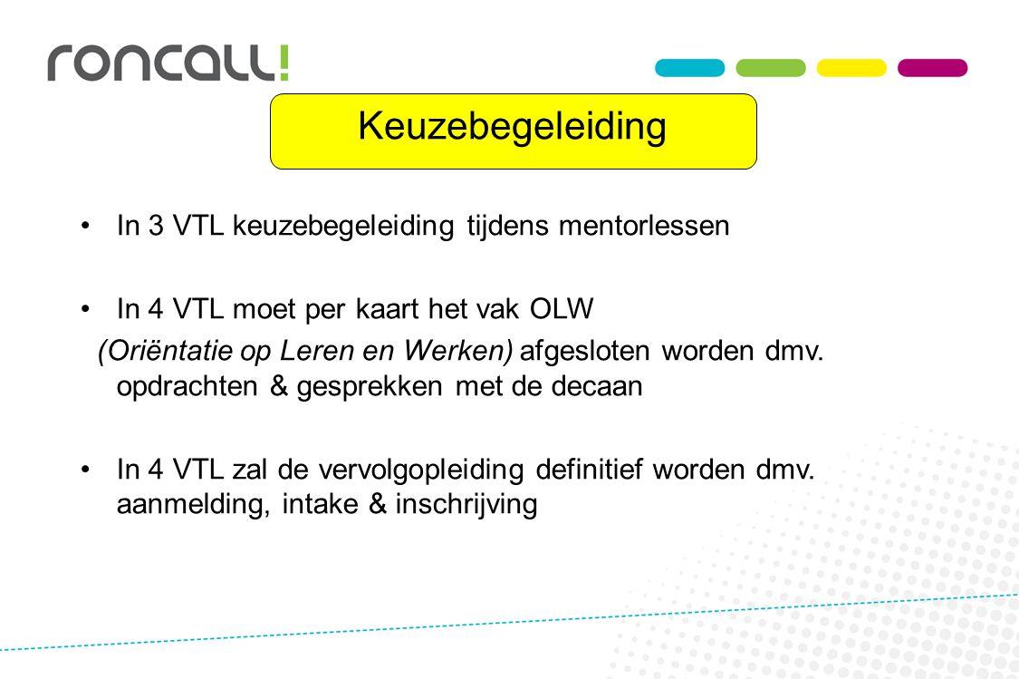 Keuzebegeleiding In 3 VTL keuzebegeleiding tijdens mentorlessen