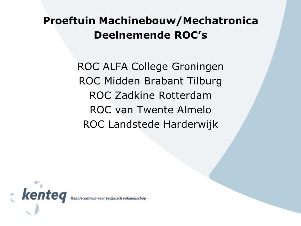 Proeftuin Machinebouw/Mechatronica