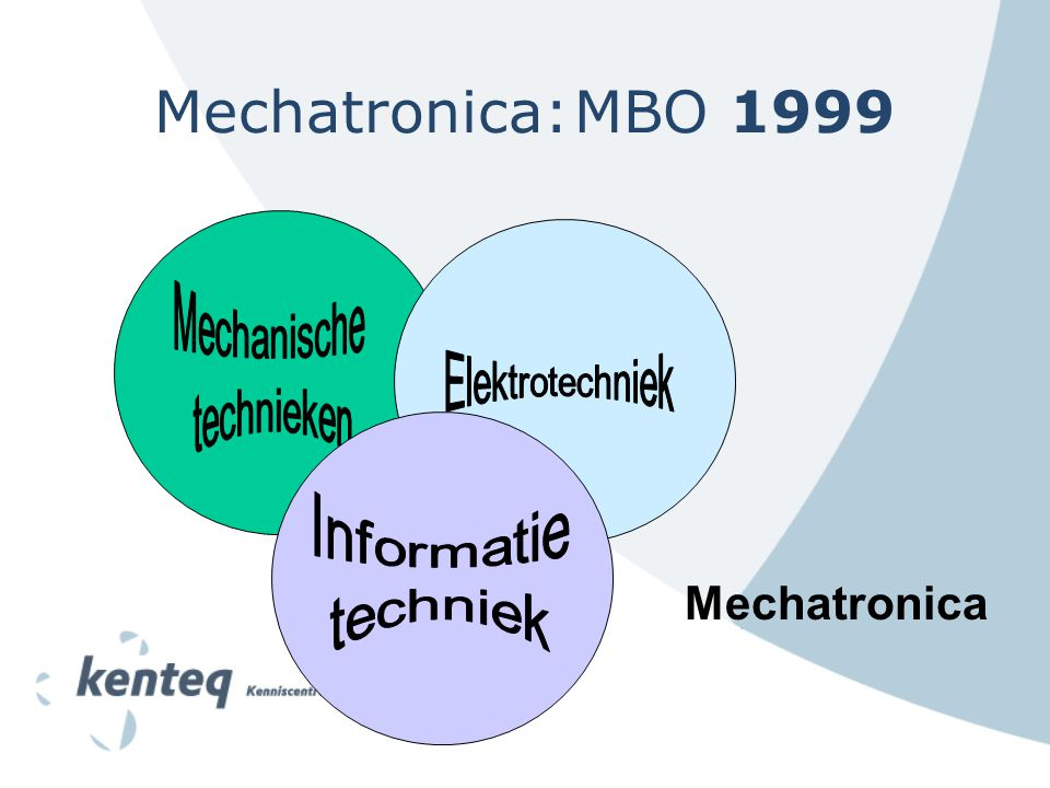 Mechatronica: MBO 1999 Mechatronica Mechanische technieken