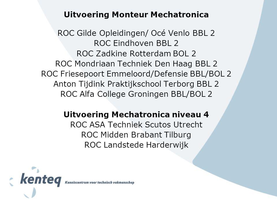 Uitvoering Monteur Mechatronica Uitvoering Mechatronica niveau 4
