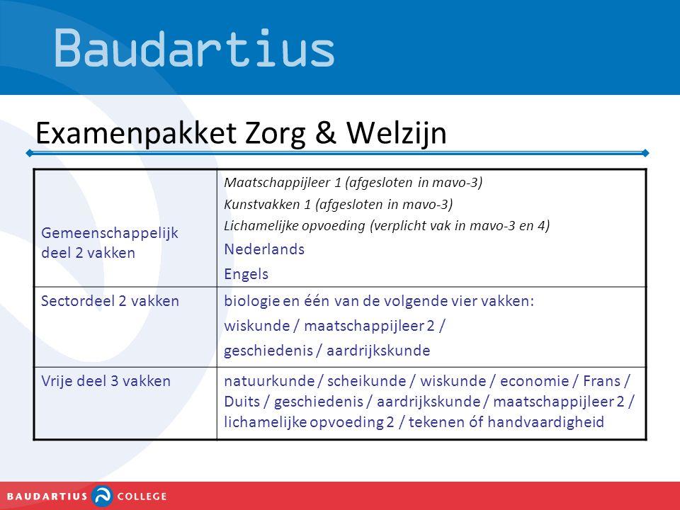 Examenpakket Zorg & Welzijn