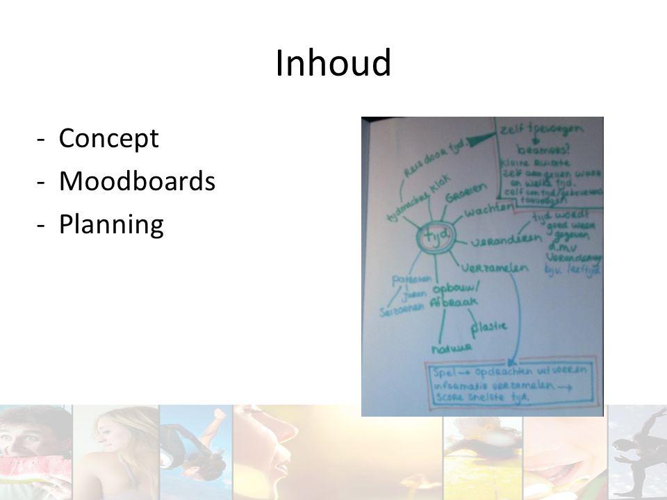 Inhoud Concept Moodboards Planning