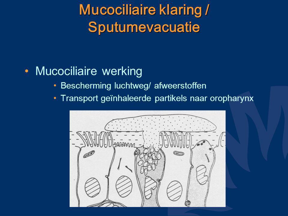 Mucociliaire klaring / Sputumevacuatie