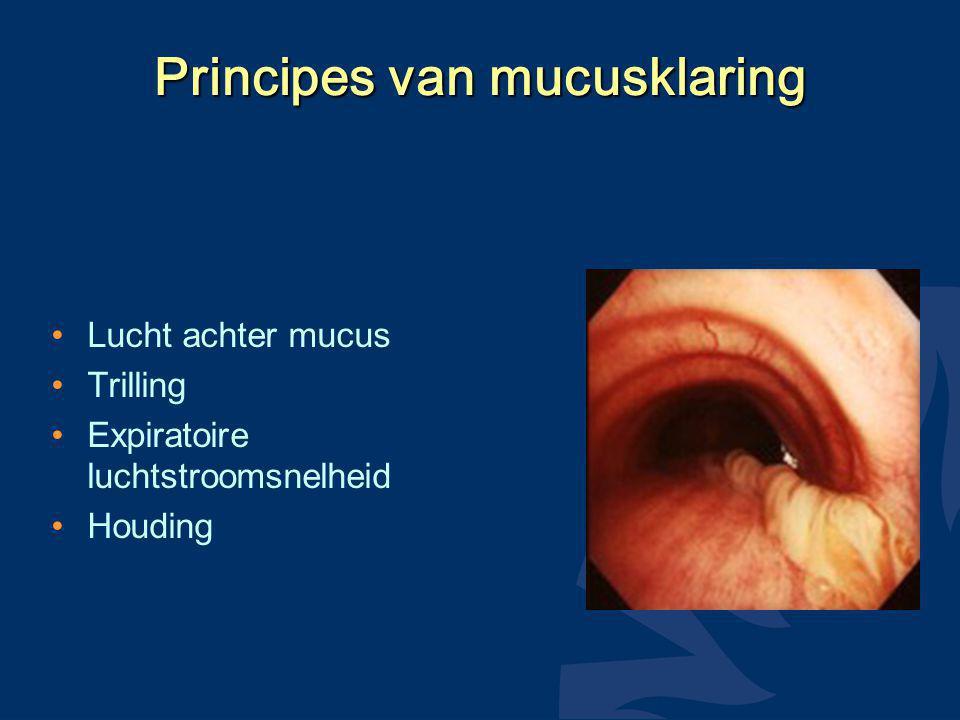 Principes van mucusklaring