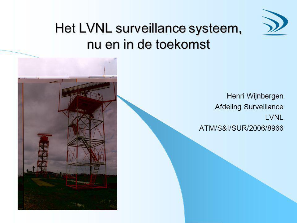 Het LVNL surveillance systeem, nu en in de toekomst