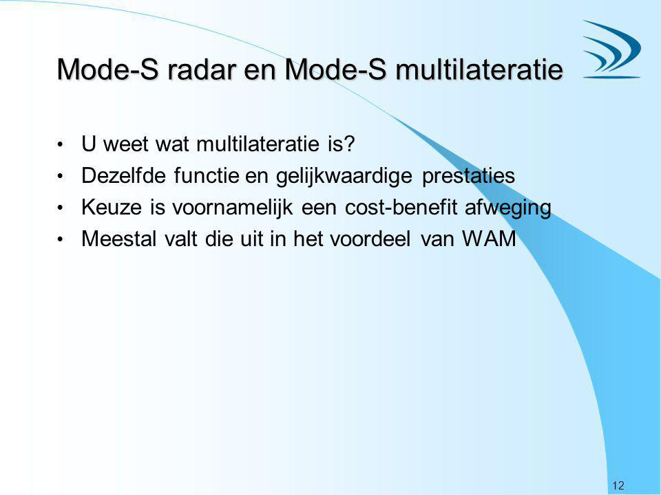 Mode-S radar en Mode-S multilateratie