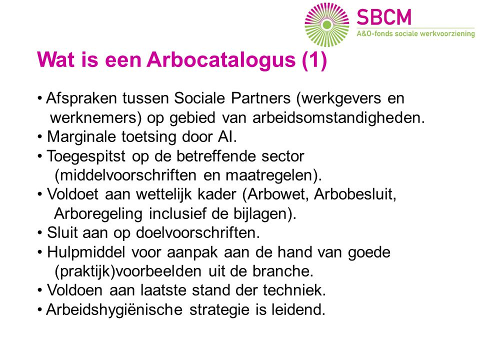 Wat is een Arbocatalogus