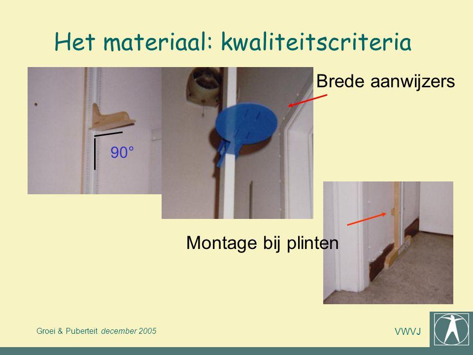 Het materiaal: kwaliteitscriteria