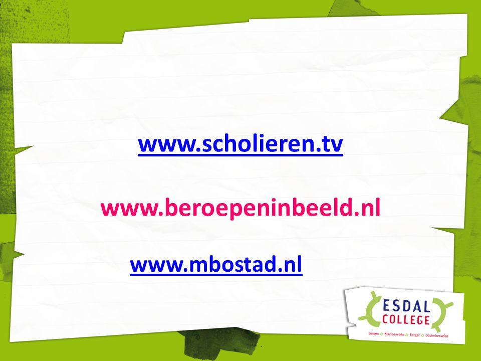 www.scholieren.tv www.beroepeninbeeld.nl