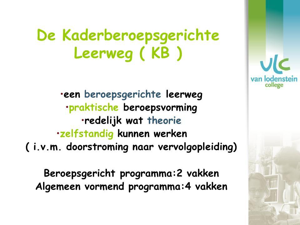 De Kaderberoepsgerichte Leerweg ( KB )