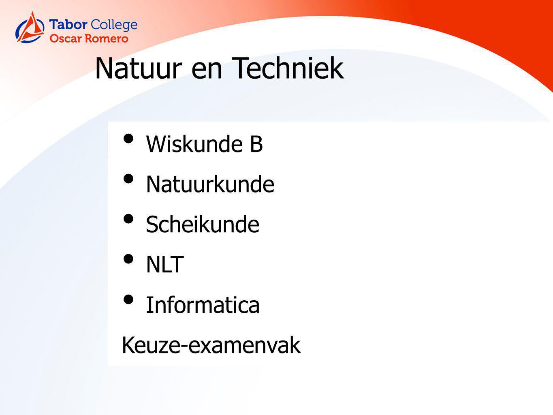 Natuur en Techniek Wiskunde B Natuurkunde Scheikunde NLT Informatica