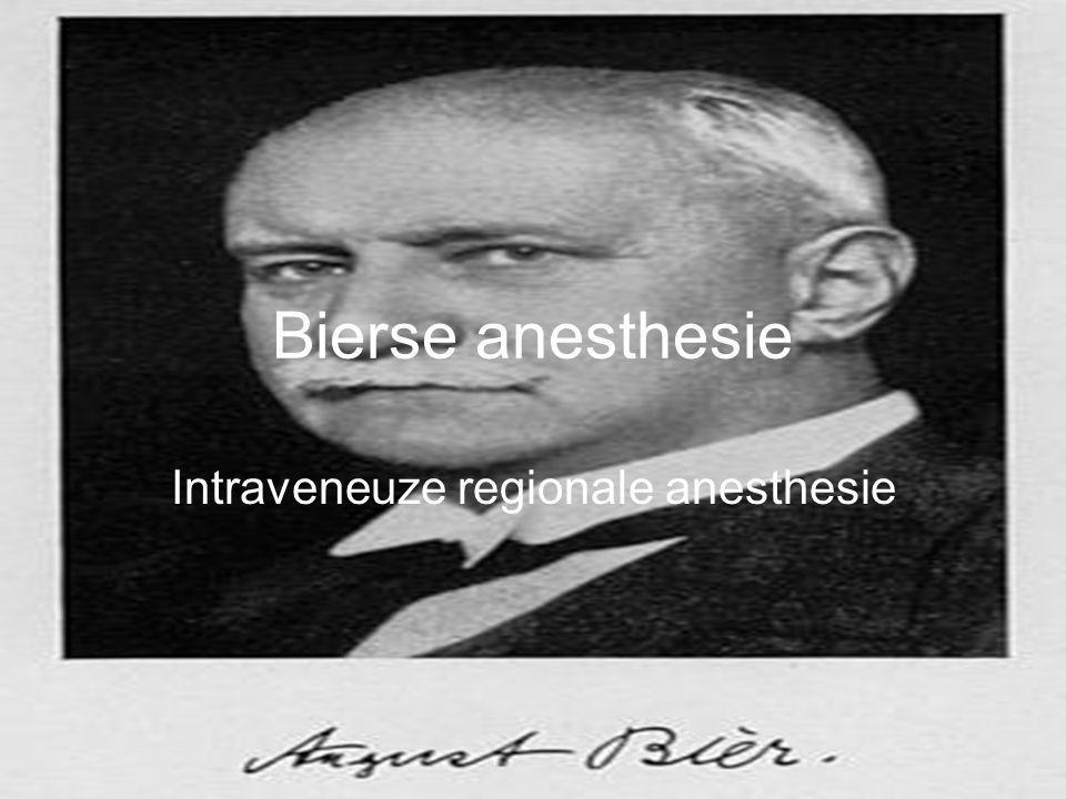 Intraveneuze regionale anesthesie
