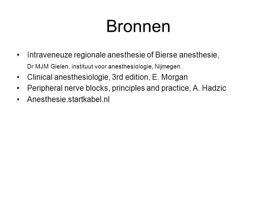 Bronnen Intraveneuze regionale anesthesie of Bierse anesthesie,