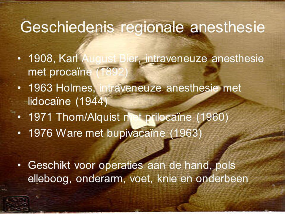 Geschiedenis regionale anesthesie