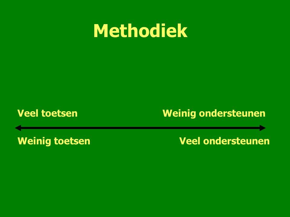 Methodiek Veel toetsen Weinig ondersteunen