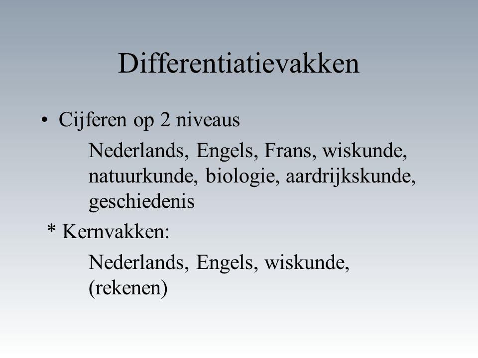 Differentiatievakken