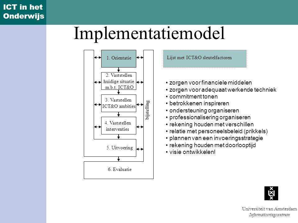 Implementatiemodel zorgen voor financiele middelen