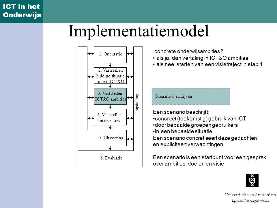 Implementatiemodel concrete onderwijsambities