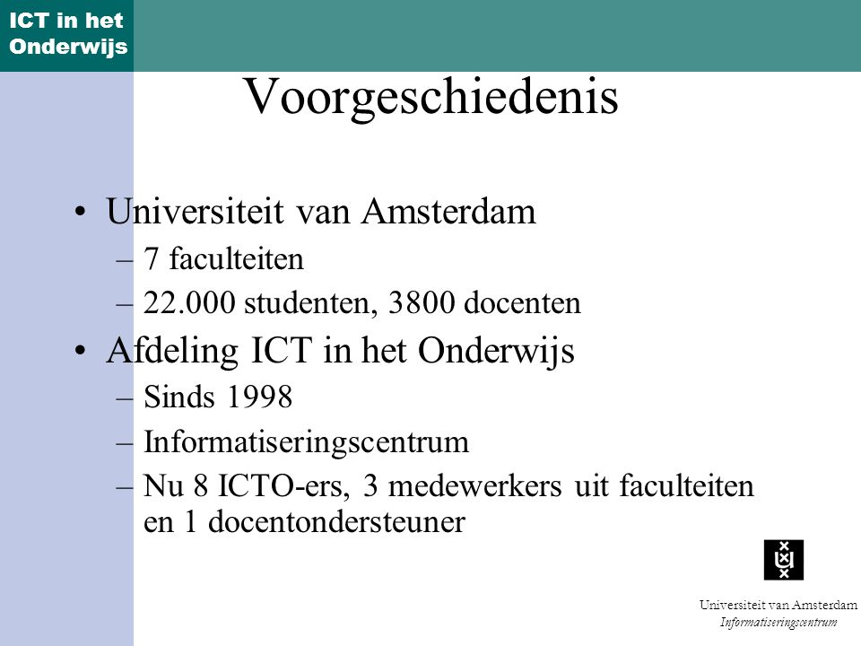 Voorgeschiedenis Universiteit van Amsterdam