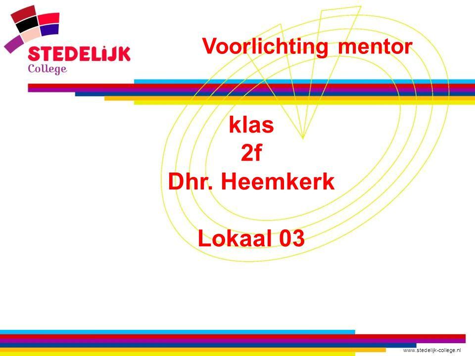 klas 2f Dhr. Heemkerk Lokaal 03
