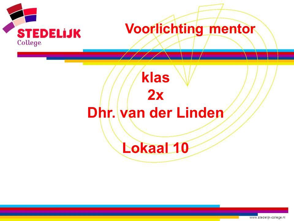 klas 2x Dhr. van der Linden Lokaal 10