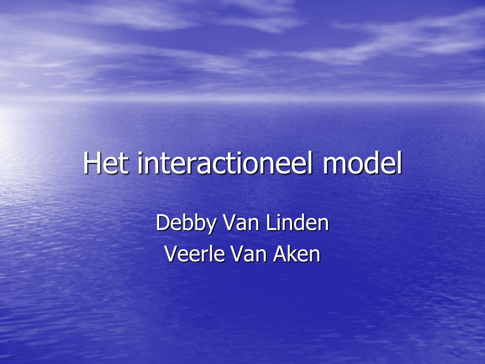 Het interactioneel model