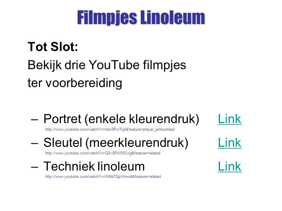 Filmpjes Linoleum Tot Slot: Bekijk drie YouTube filmpjes