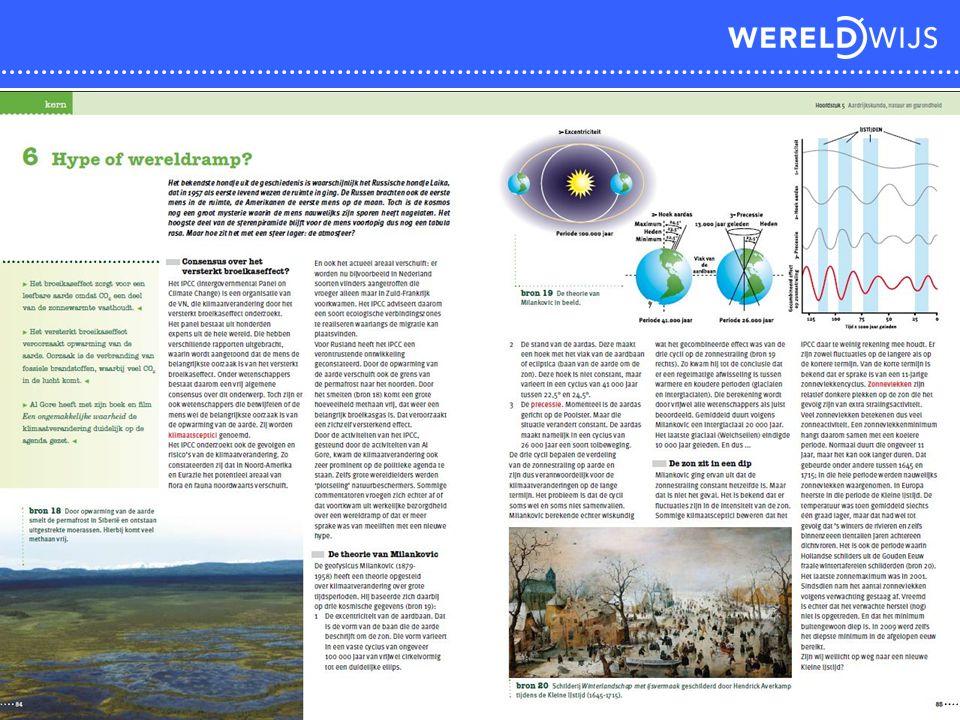 Voorbeeld paragraaf handboek uit het hoofdstuk Aardrijkskunde, natuur en gezondheid.