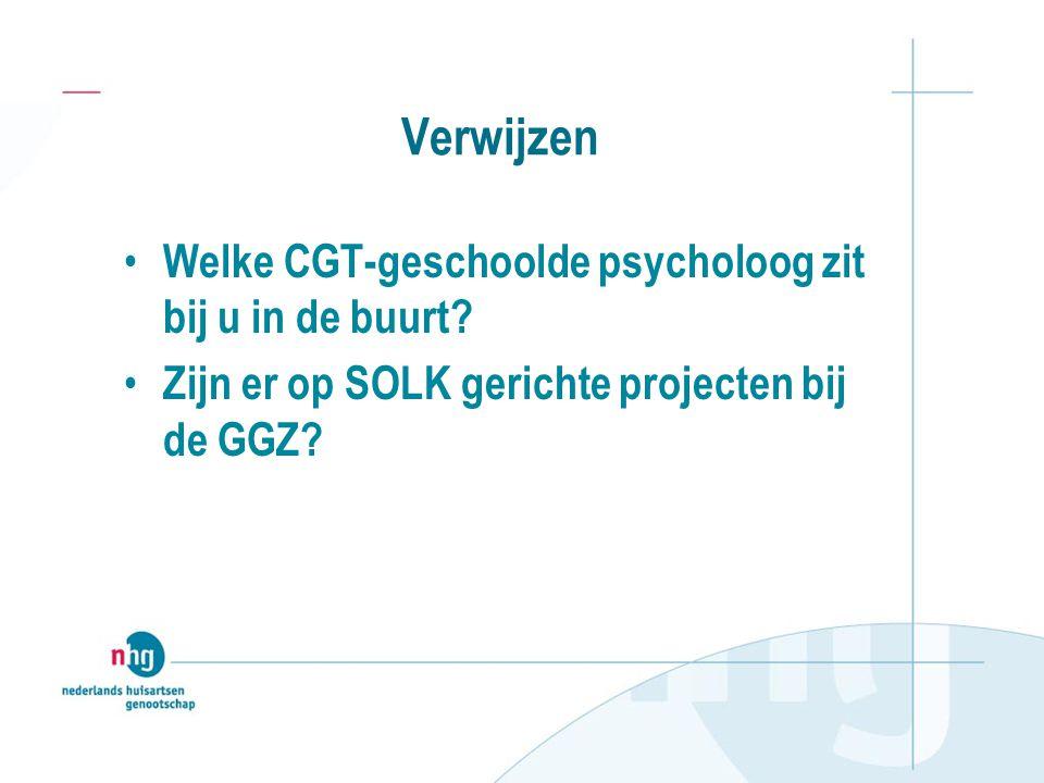 Verwijzen Welke CGT-geschoolde psycholoog zit bij u in de buurt