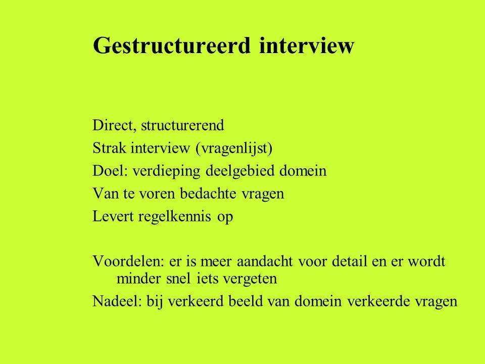 Gestructureerd interview