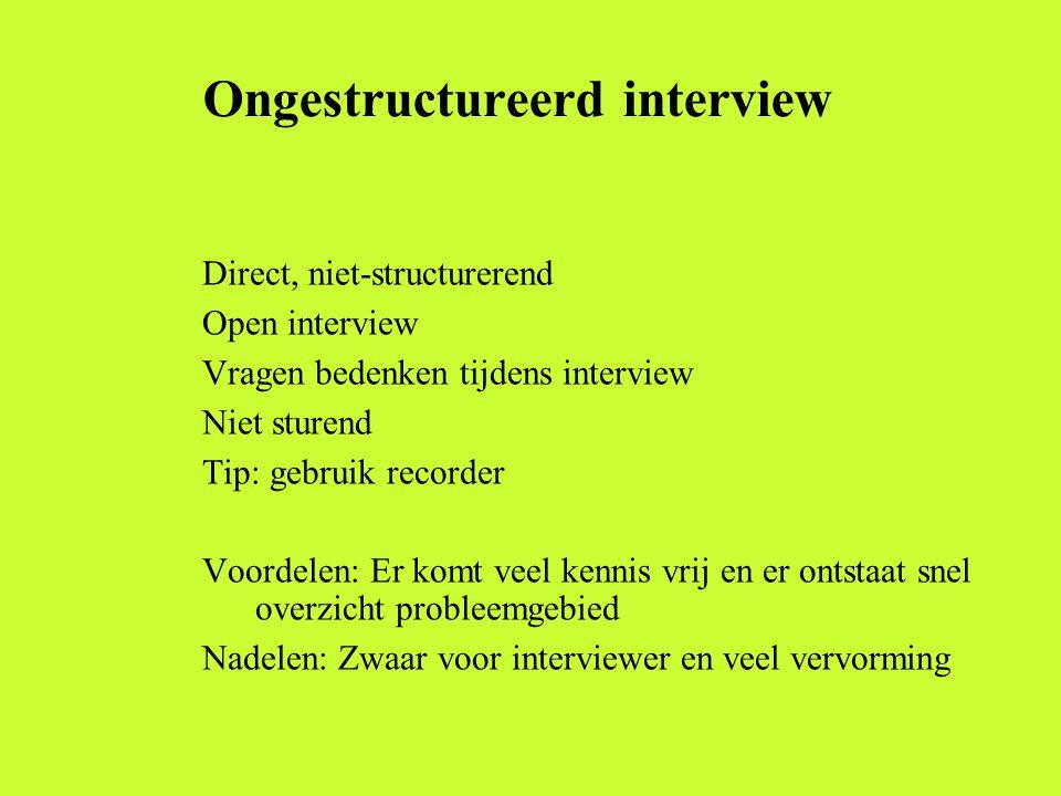 Ongestructureerd interview