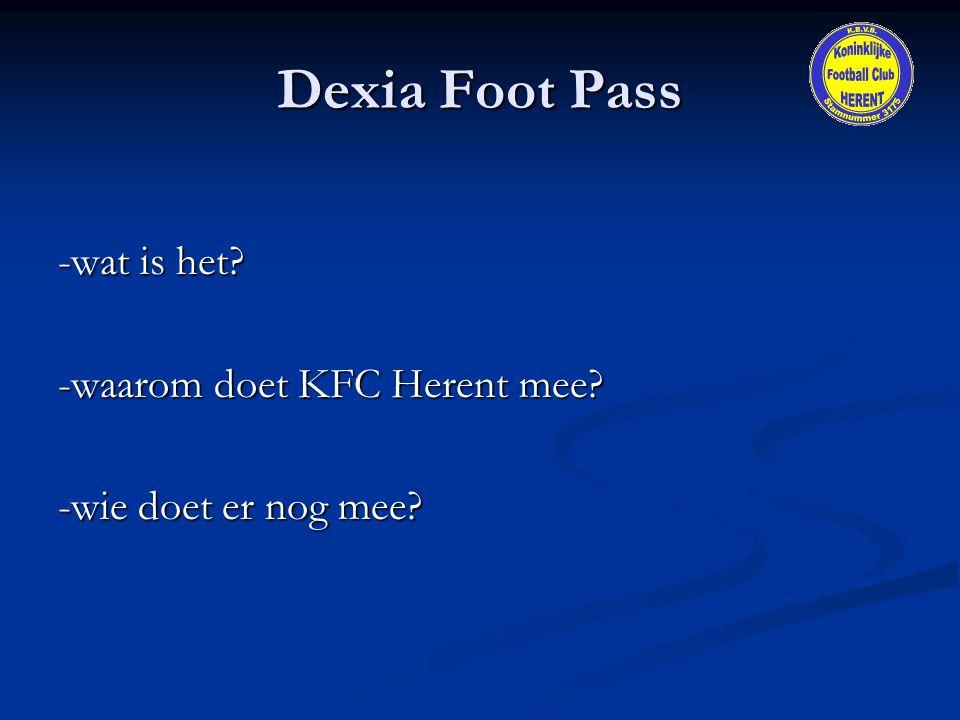 Dexia Foot Pass -wat is het -waarom doet KFC Herent mee