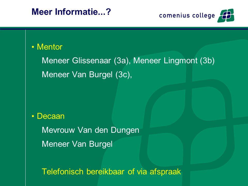 Meer Informatie... Mentor