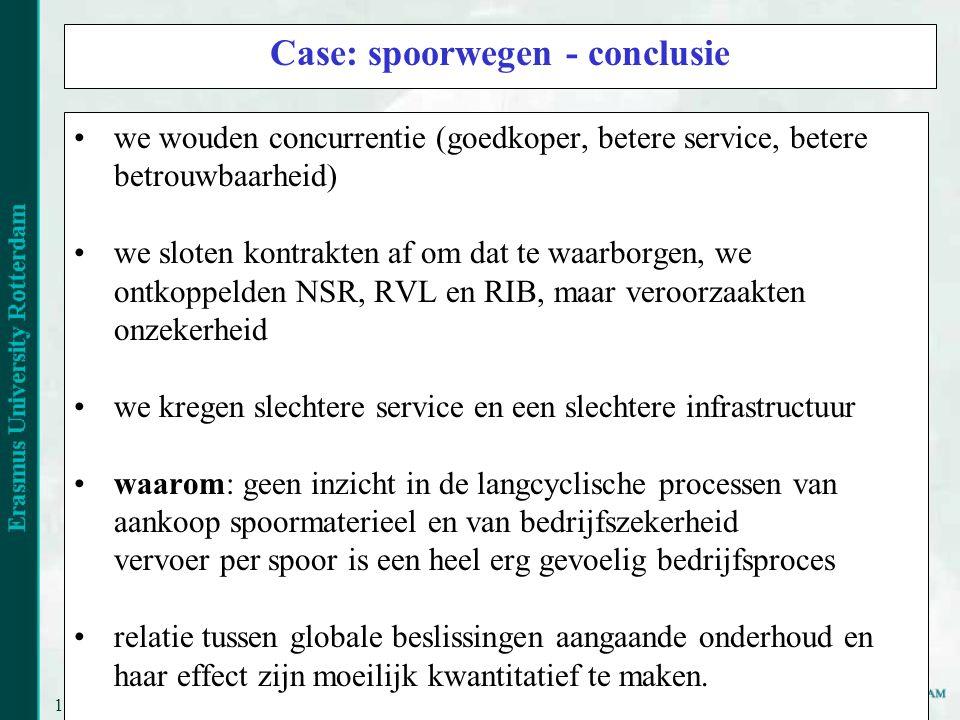 Case: spoorwegen - conclusie
