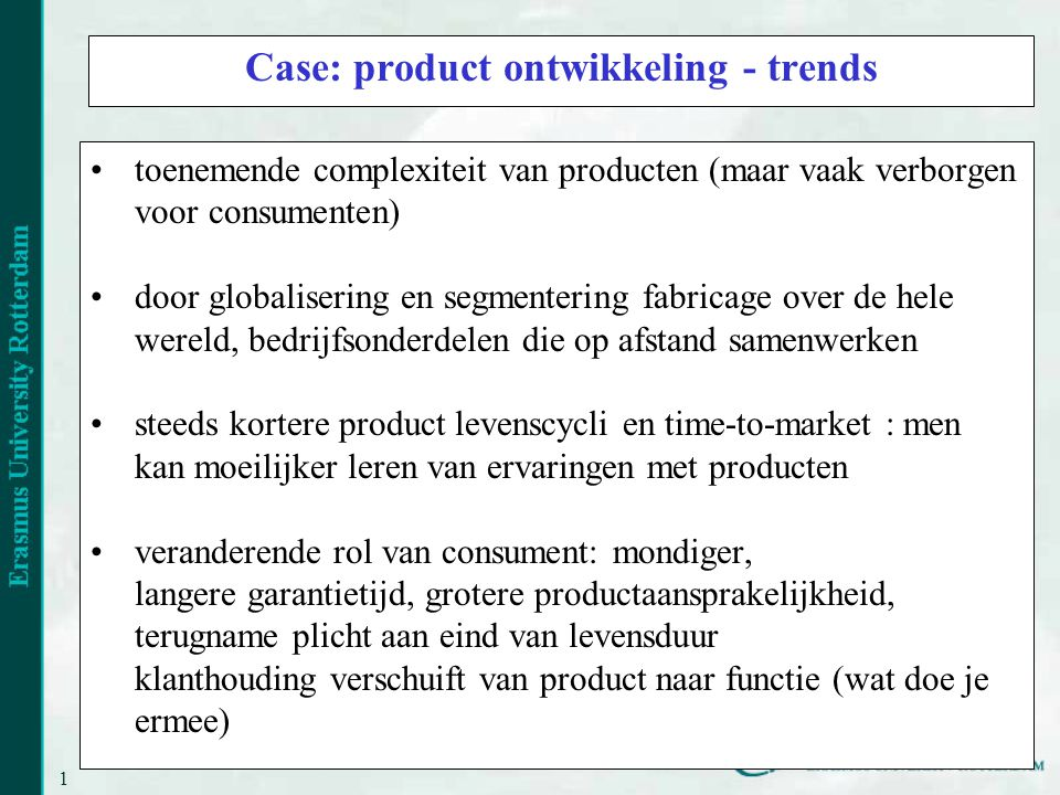 Case: product ontwikkeling - trends