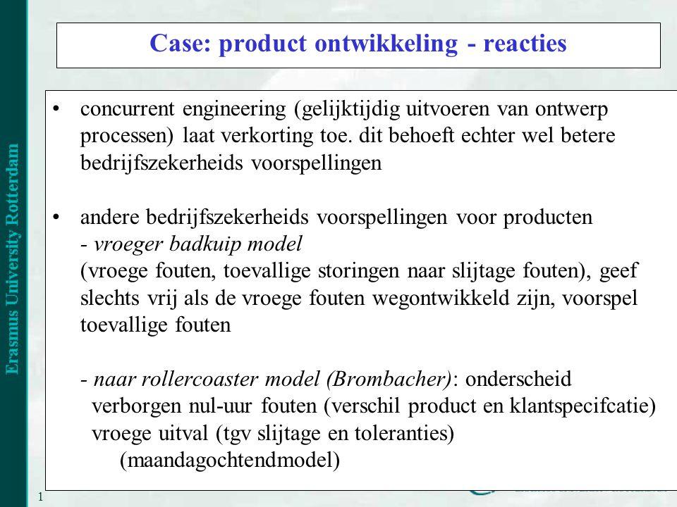 Case: product ontwikkeling - reacties