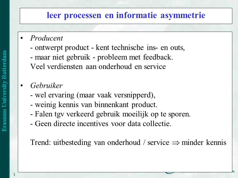 leer processen en informatie asymmetrie
