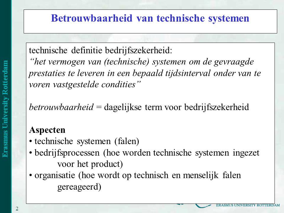 Betrouwbaarheid van technische systemen