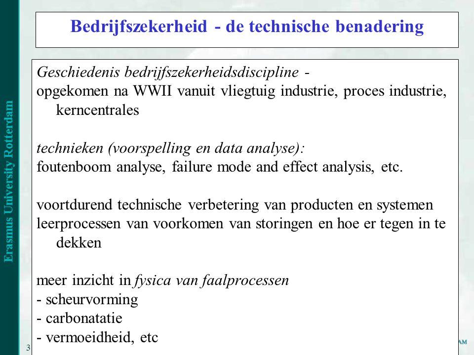 Bedrijfszekerheid - de technische benadering